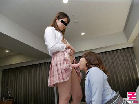 内山あすか 永田ゆう 【うちやまあすか】 制服姿でレズっちゃう素人娘